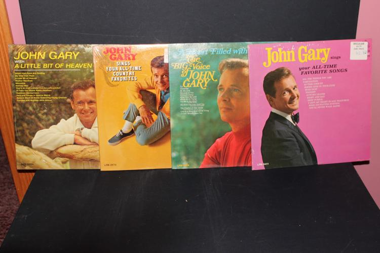 4 NICE ALBUMS BY JOHN GARY RCA RECORDS ALL LIKE NEW 2- 1966 2- 1965 3 WITH ORIG. STORE WRAPPING