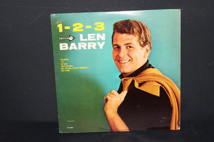 1-2-3 LEN BARRY DECCA RECORDS 4720 LIKE NEW