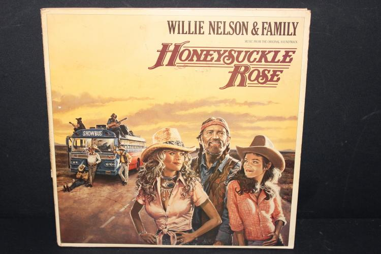 WILLIE NELSON AND FAMILY – HONEY SUCKLE ROSE DOUBLE RECORD SET LIKE NEW 1980 COLUMBIA GATEFOLD