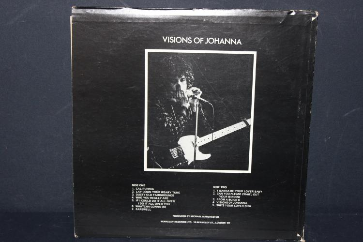 BOB DYLAN VISIONS OF JOHANNA BERKELEY RECORDS 1975 LIKE NEW