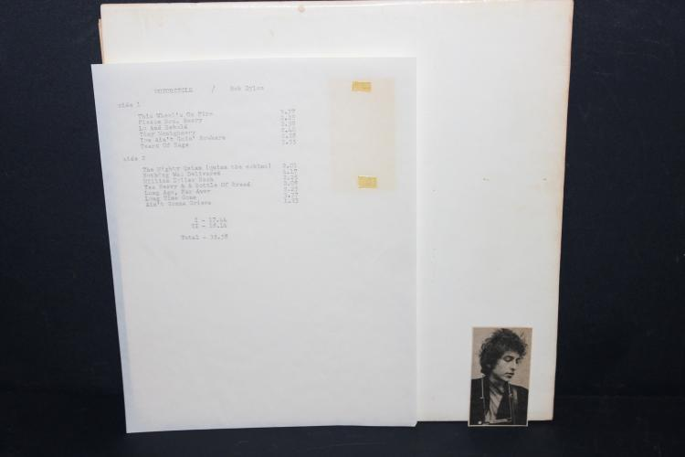 RARE DYLAN BOOTLEGGED ALBUM MOTORCYCLE LIKE NEW