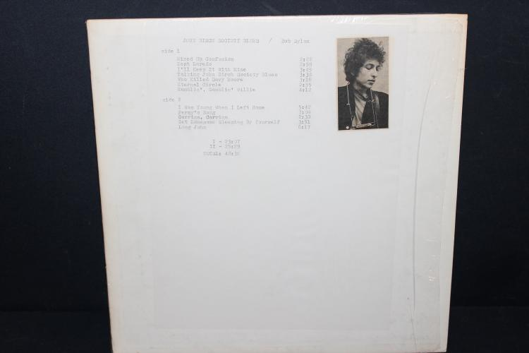 RARE BOB DYLAN BOOTLEGGED ALBUM LIKE NEW JOHN BIRCH SOCIETY BLUES