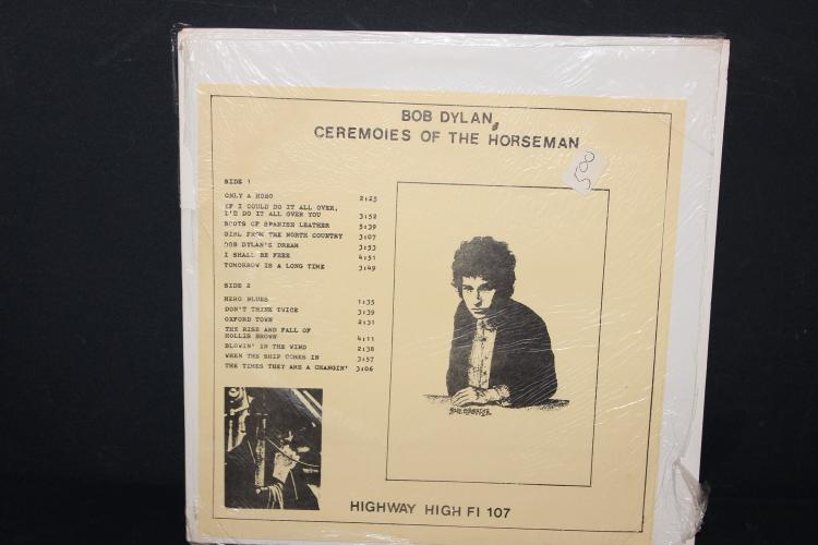 VERY RARE DYLAN CEREMONIES OF THE HORSEMAN HIGHWAY HIGH F1 – 107 LIKE NEW