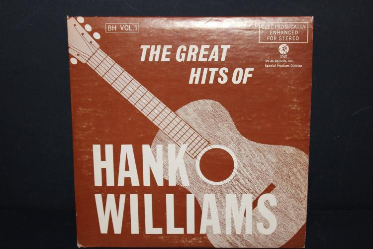 THE GREAT HITS OF HANK WILLIAMS 1972 MGM RECORDS 2 RECORD SET LIKE NEW