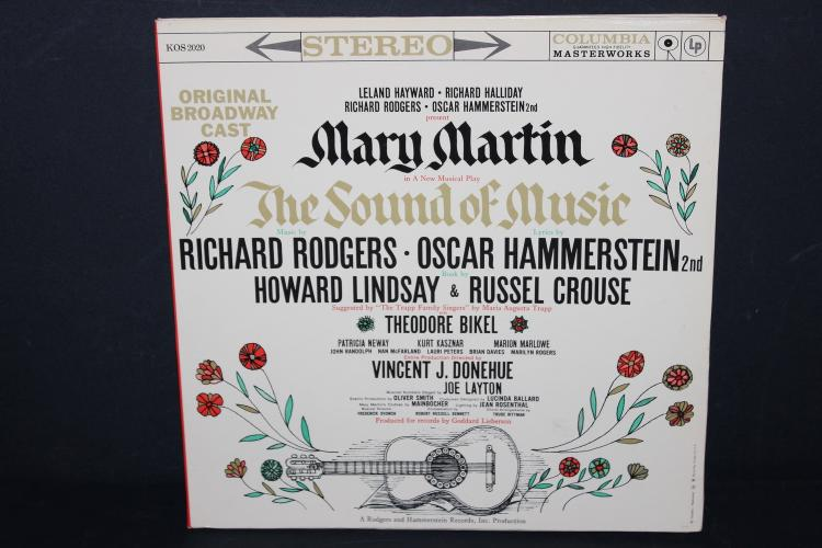 ORIGINAL BROADWAY CAST THE SOUND OF MUSIC GATEFOLD ALBUM 1959 COLUMBIA KOS2020 LIKE NEW