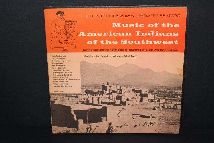 SOUTHWEST AMERICAN INDIAN MUSIC ETHNIC FOLKWAYS LIBRARY LIKE NEW #FE4420 - 1951