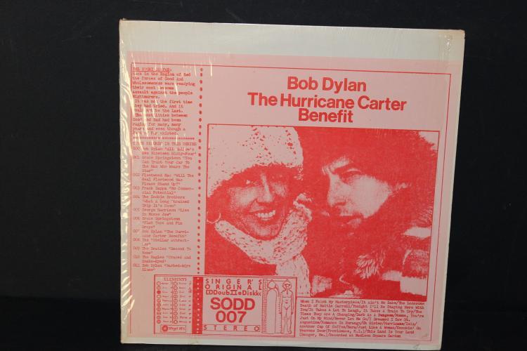 BOOTLEGGED BOB DYLAN THE HURRICANE - CARTER BENEFIT - DOUBLE ALBUM LIKE NEW RARE