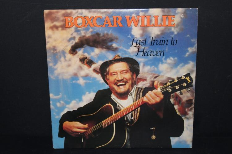 BOXCAR WILLIE LAST TRAIN TO HEAVEN 1982 Main St. records like new