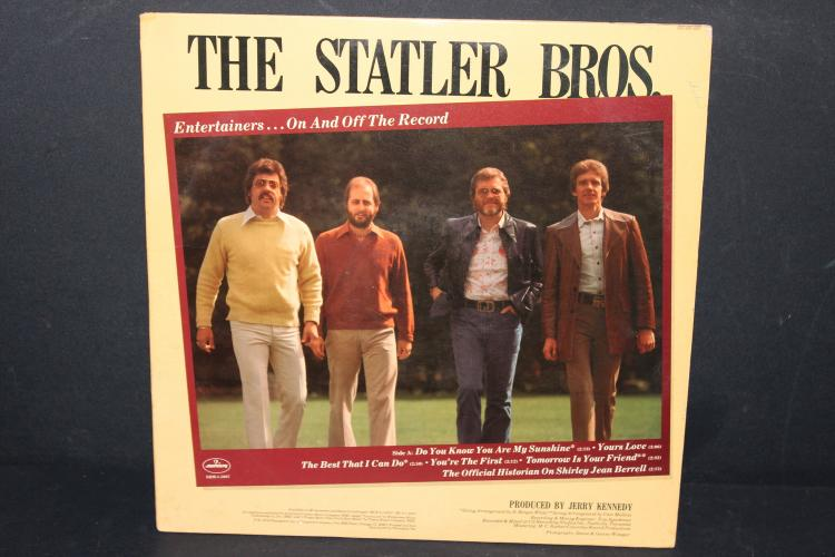 THE STATLER BROTHERS 1978 MERCURY RECORDS SRM1– 5007 LIKE NEW