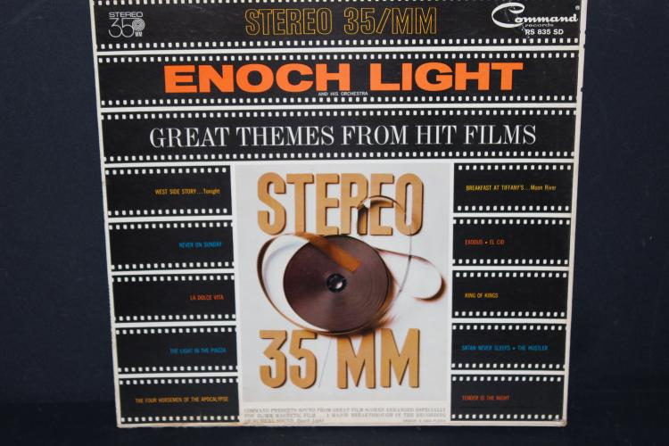 GREAT THEMES FROM HIT FILMS STEREO 35 MM ENOCH LIGHT COMMAND RECORDS RS 835 SD LIKE NEW 1962