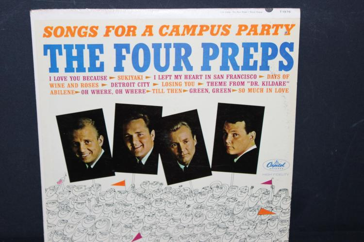 THE FOUR PREPS CAMPUS SONGS CAPITAL T 1976 LIKE NEW