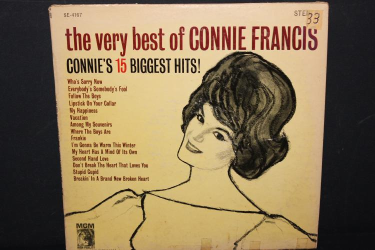 VERY BEST OF CONNIE FRANCIS 15 BIGGEST HITS LIKE NEW MGM RECORDS 4167