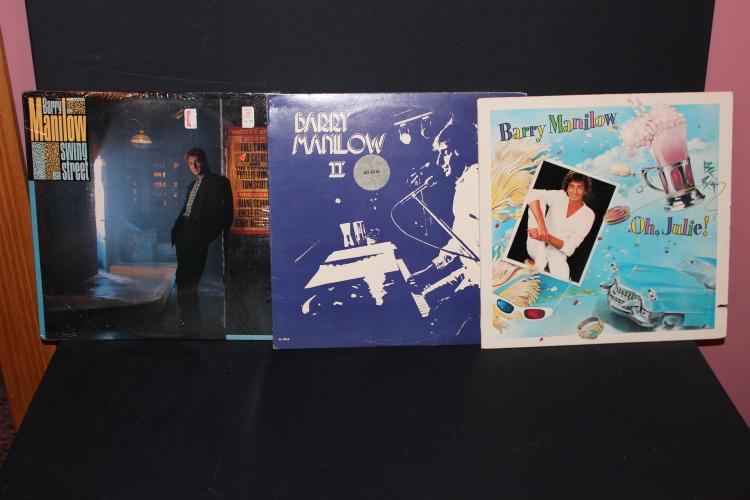 3 VERY NICE BARRY MANILOW'S ALL LP LIKE NEW 1972 – 84 – 87