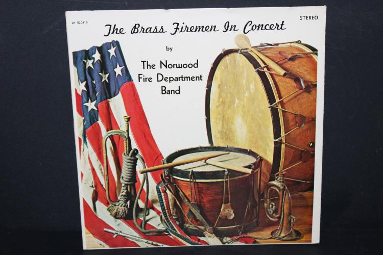 THE BRASS FIREMAN IN CONCERT FIRE DEPARTMENT BAND 1976 TNT RECORDS MESSENA NEW YORK LIKE NEW