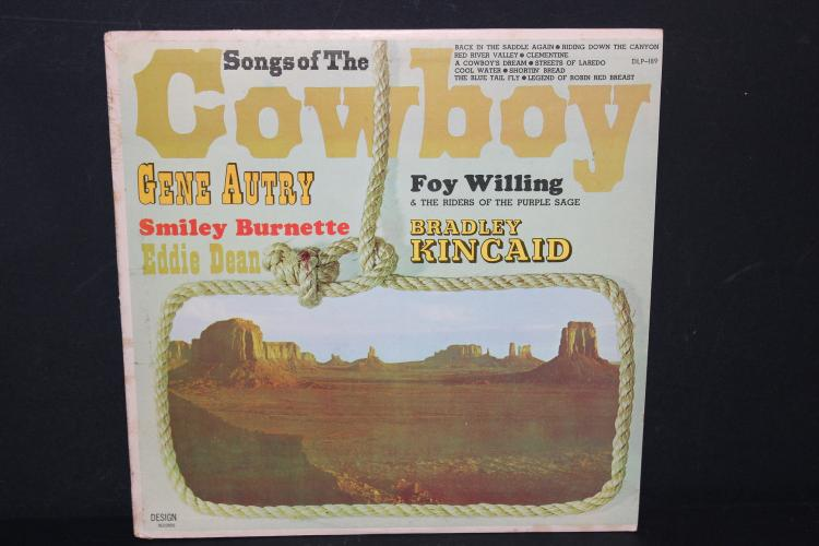 RARE COWBOY SONGS GENE AUTRY FOY WILLING 1962 DESIGN RECORDS NEAR MINT