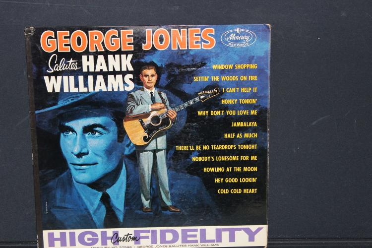 GEORGE JONES SINGS HANK WILLIAMS MERCURY RECORDS MG 20596 LIKE NEW