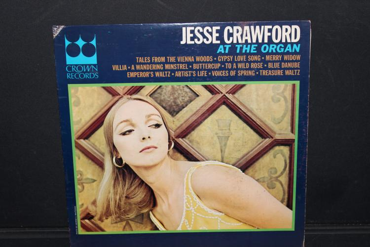 JESSE CRAWFORD CROWN RECORDS CLP 5486 LIKE NEW