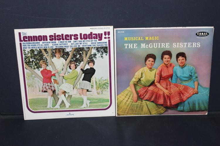 2 RECORD LOT THE LENNON SISTERS TODAY - AND THE MUSICAL MAGIC OF THE MCGUIRE SISTERS