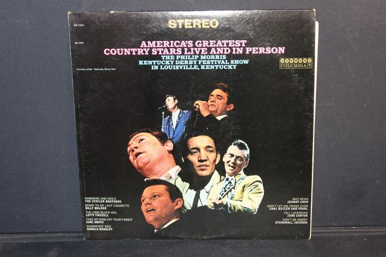 AMERICA'S GREATEST COUNTRY STARS LIVE KENTUCKY DERBY FESTIVAL COLUMBIA RECORDS 11214 LIKE NEW