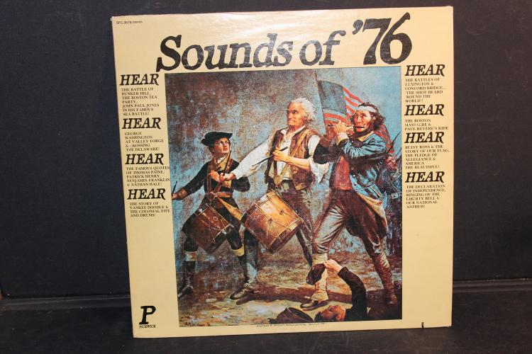 SOUNDS OF 76 PICKWICK RECORDS SPC 3576 GREAT QUOTES AND SONGS OF AMERICA 1975 LIKE NEW