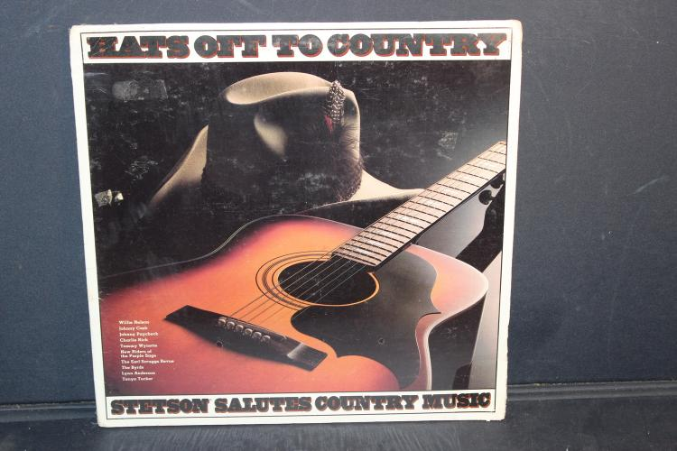 HATS OFF TO COUNTRY 1981 STETSON HAT COMPANY CBS RECORDS SEALED