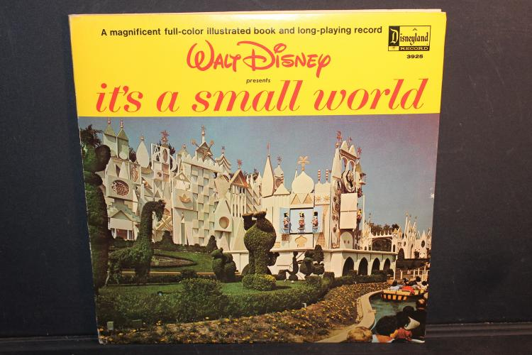 1964 WALT DISNEY IT'S A SMALL WORLD NEAR MINT WITH BOOKLET GATEFOLD