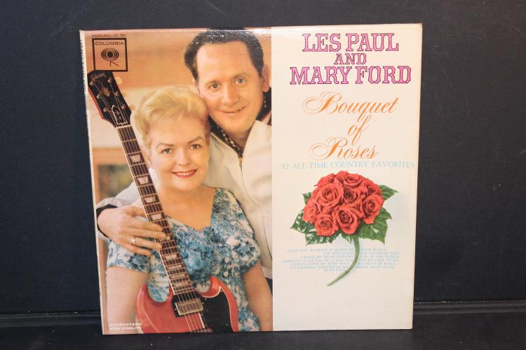 LES PAUL AND MARY FORD BOUQUET OF ROSES LIKE NEW CONDITION COLUMBIA CL 1821 - 1962