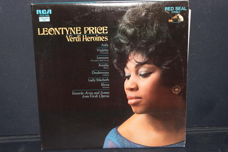 2 RECORD SET LEONTYNE PRICE VERDI HEROINES RCA VCS 7063 LIKE NEW