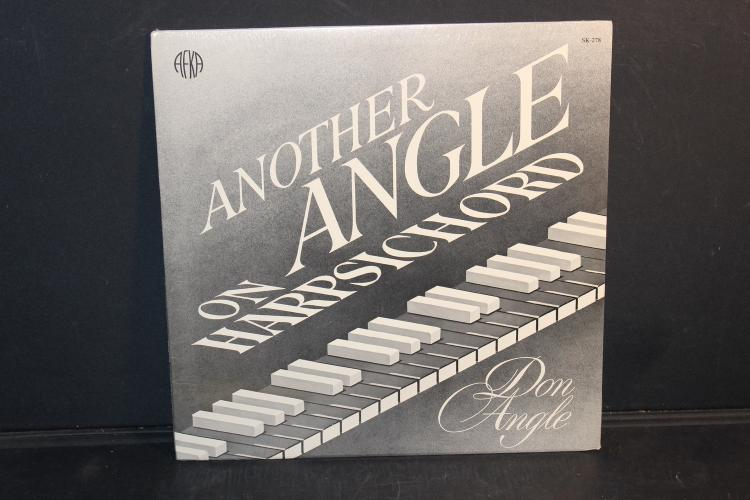 ANOTHER ANGLE ON HARPSICHORD DON ANGLE AUTOGRAPHED FACTORY SEALED 1982 AF KA RECORDS - RECORD WAS BOUGHT AT THE CONCERT