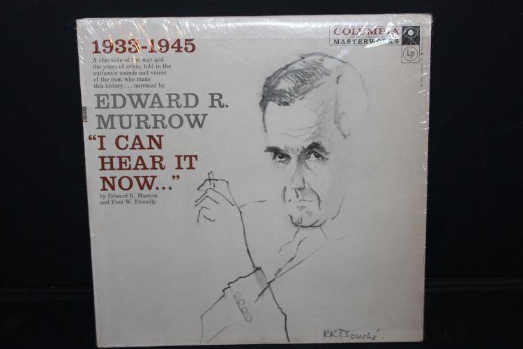 CHRONICLE OF THE WAR NARRATED BY EDWARD R MURROW LIKE NEW COLUMBIA ML 4095 GREAT FOR THE HISTORY COLLECTOR