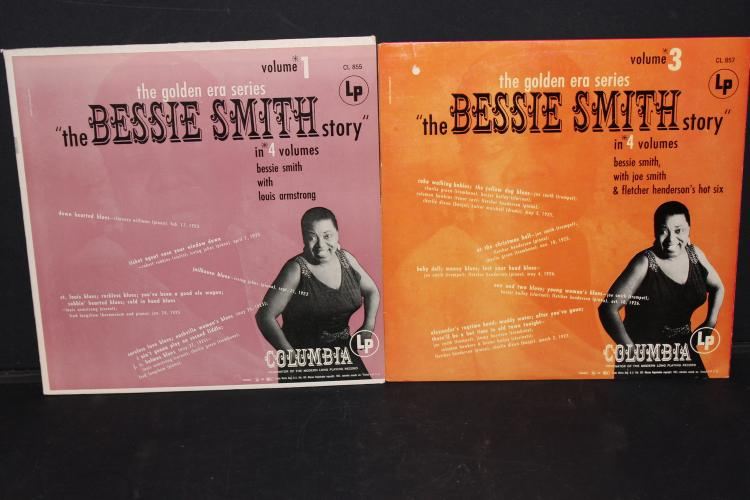 2 RECORD LOT GOLDEN ERA BESSIE SMITH STORY VOL 1 & 3 - LIKE NEW VOL #4 WITH LOUIS ARMSTRONG 1951 COLUMBIA
