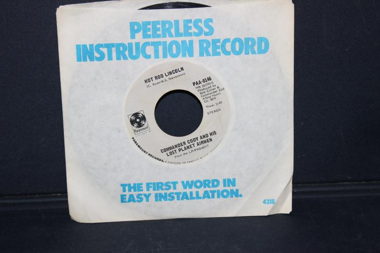 PEERLESS INSTRUCTION RECORD HOT ROD LINCOLN - CMDR. CODY AND HIS LOST PLANET AIRMEN - PAA- 0146