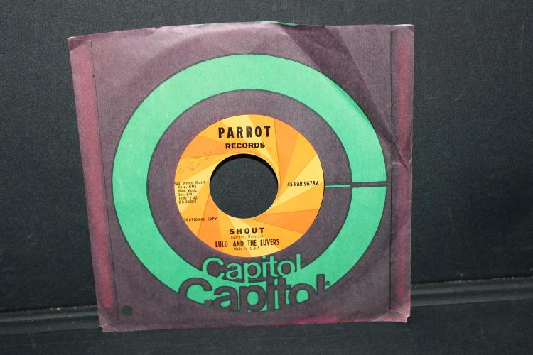 SHOUT BY LULU AND THE LOVERS 45 RPM PARROT RECORDS NEAR MINT