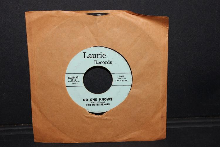 RARE DION AND THE BELMONTS - NO ONE KNOWS - VERY GOOD CONDITION LAURIE RECORDS