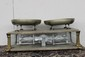 GREAT PAIR OF BALANCE DISH SCALES BY BIANCH LEGITIMA - MARBLE BASE AND IRON WORKS FINE - 26 X 13