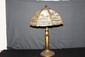 GREAT 6 PANEL SLAG GLASS LAMP BEAUTIFUL FILIGREE 26