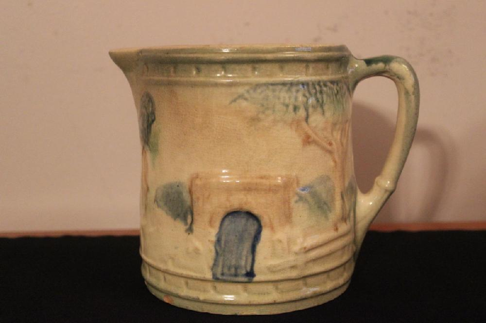 UNIQUE SIZE EARLY MAJOLICA PICTURE 6.5 X 4.5 - A BEAUTY