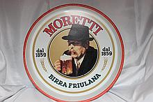 MORETTI BEER TRAY NICE COLOR AND DETAIL
