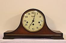 BULOVA HUMPBACK MANTEL CLOCK WITH WESTMINSTER CHIMES - WORKS AND SOUNDS GREAT