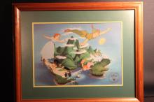 DISNEY EXCLUSIVE COMMEMORATIVE LITHOGRAPH VERY COLORFUL 15.5 X 12