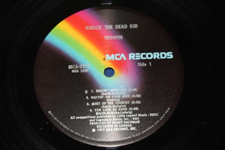 Trooper 4 Knock Em Dead Kid Vinyl Lp Album Pin Mca Reco