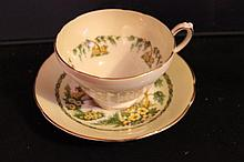 CUP AND SAUCER SUTHERLAND FINE OWN CHINA STAFFORDSHIRE ENGLAND - MINT CUP 2.5 TALL