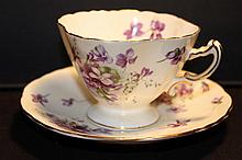 BONE CHINA ENGLAND VICTORIAN VIOLETS COUNTRYSIDE HAMMERSLEY