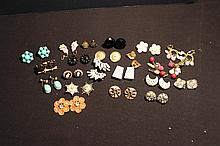 20 PAIR OF CLIP ON EARRINGS IN ALL STYLES