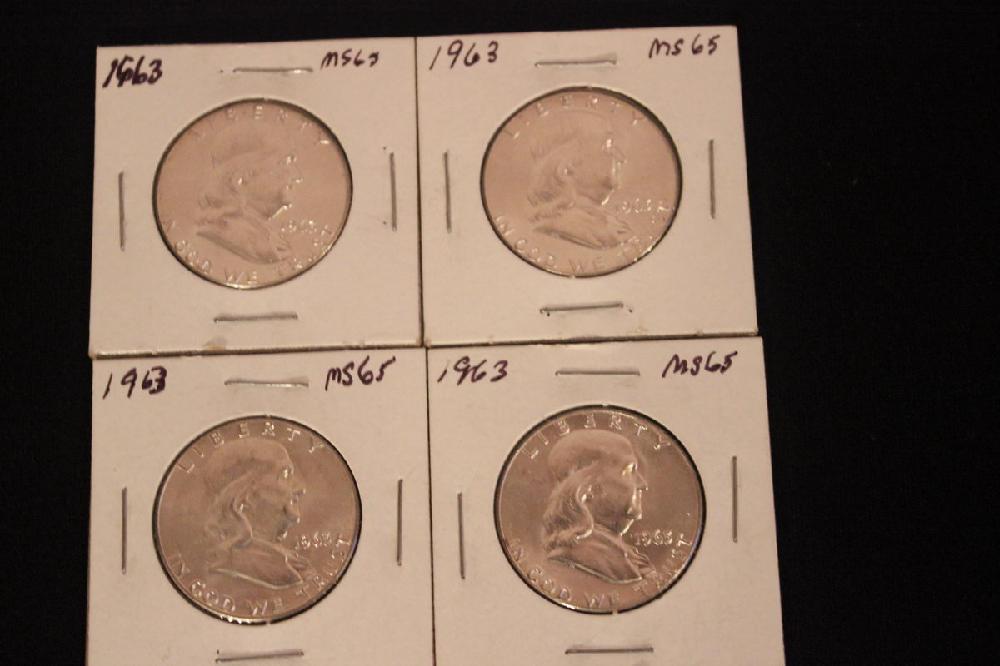 4 - 1963 MS-65 FRANKLINS