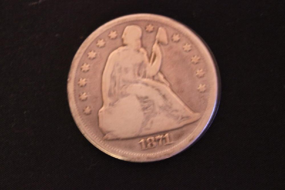 1871 SEATED LIBERTY DOLLAR GOOD