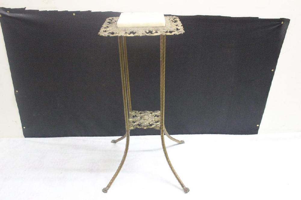 BRASS & MARBLE LAMP STAND