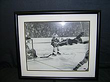 MASSIVE FRAMED BOBBY ORR HOTO AND AUTOGRAPH WITH STEINER COA STICKER