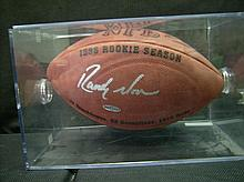 UD CERTIFIED RANDY MOSS LIMITED EDITION RANDY MOSS AUTOGRAPHED FOOTBALL
