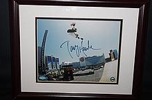 GREAT PHOTOGRAPH OF HIGHFLYING TONY HAWK W/ CERTIFICATE OF AUTHENTICITY NAMED TONY HAWK BIG AIR 8 X 10